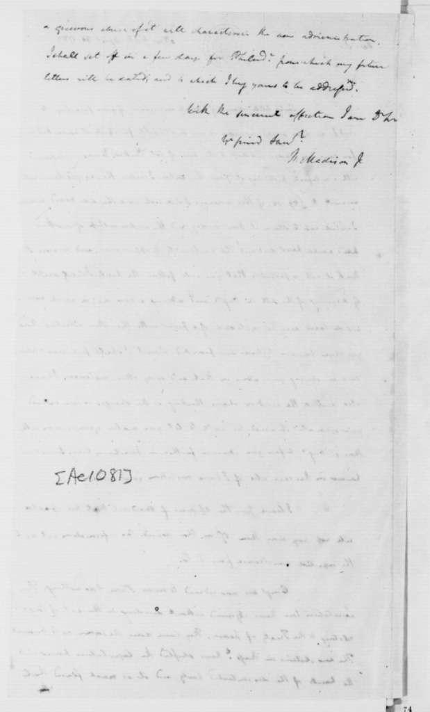 James Madison to James Monroe, May 7, 1787.