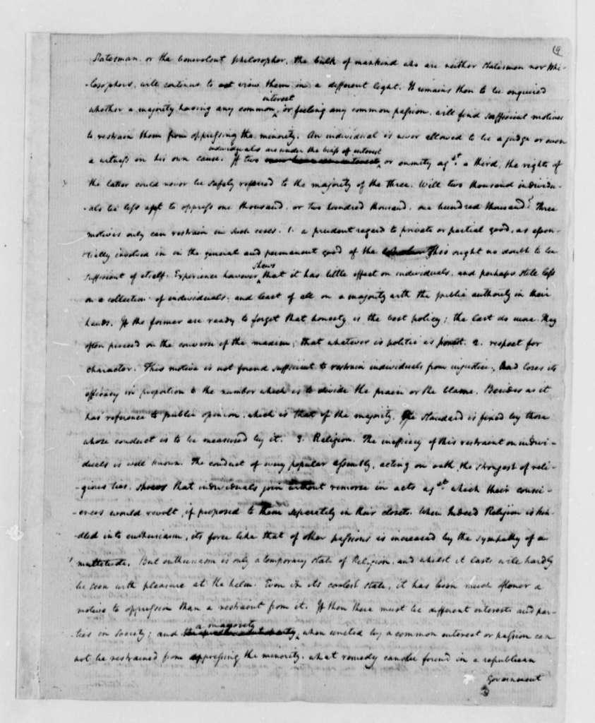 James Madison to Thomas Jefferson, October 24, 1787