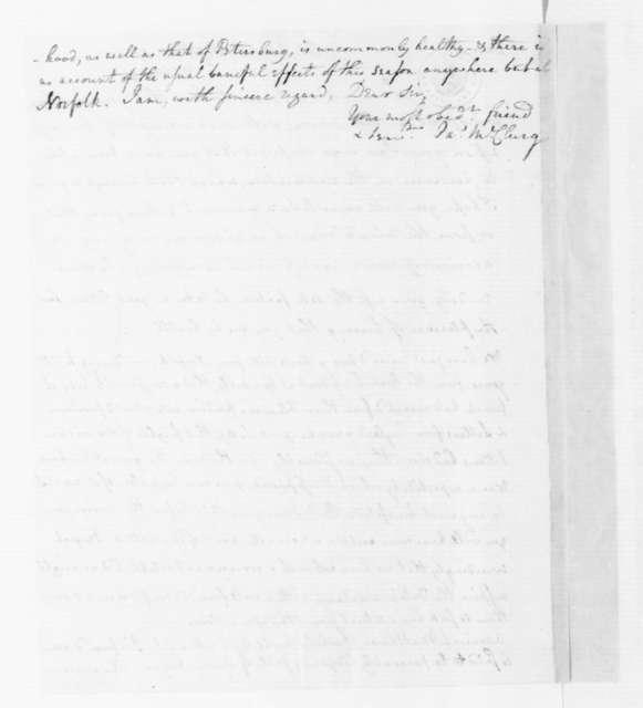 James McClurg to James Madison, September 5, 1787.