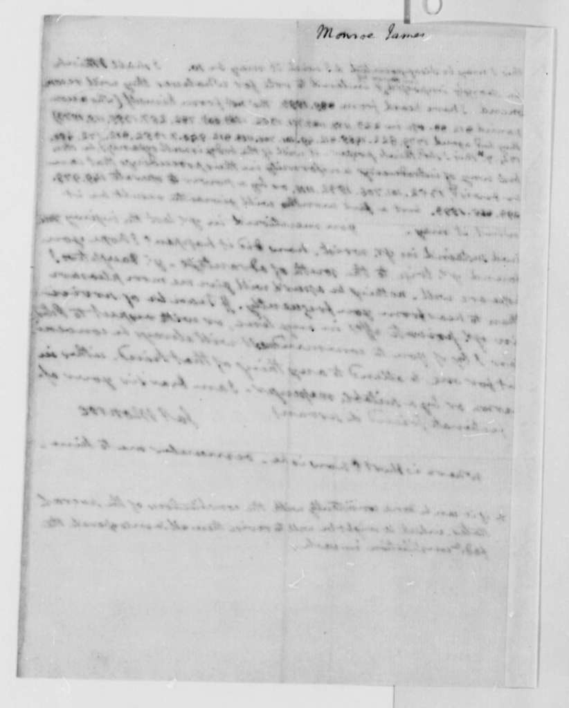 James Monroe to Thomas Jefferson, July 27, 1787