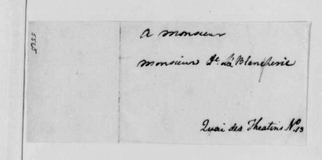John Adams to C. P. C. la Blancherie, September 6, 1787
