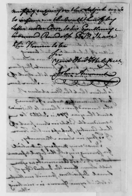 John Ammonet to Thomas Jefferson, May 10, 1787, Claim on Jacob Ammonet Estate in France