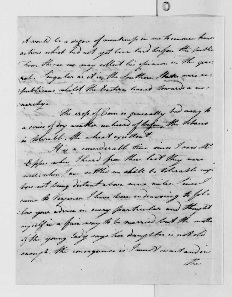 John Banister Jr. to Thomas Jefferson, September 27, 1787