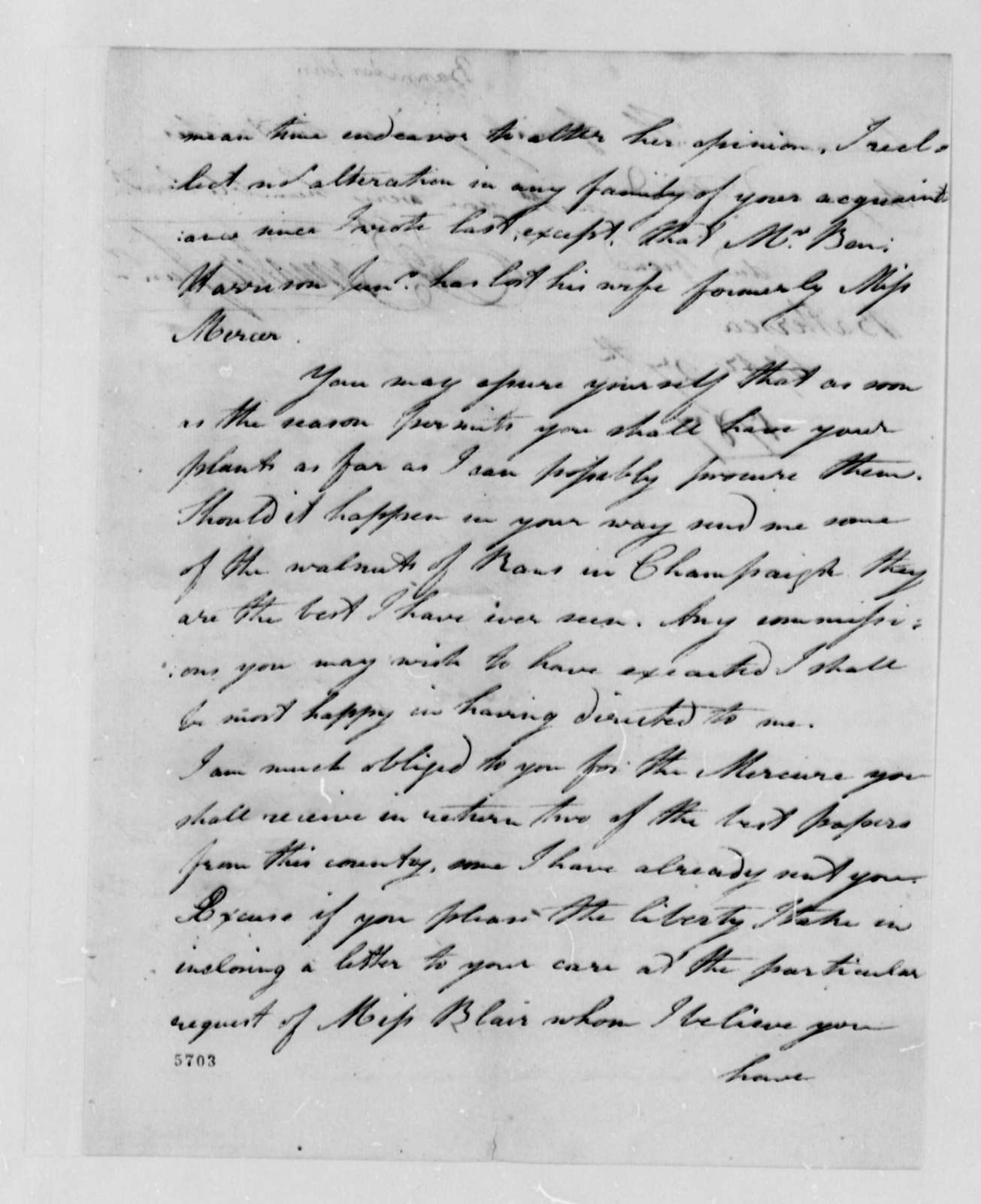 John Banister Jr. to Thomas Jefferson, September 27, 1787