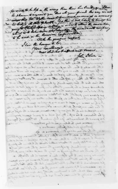 John Blair to Thomas Jefferson, March 28, 1787