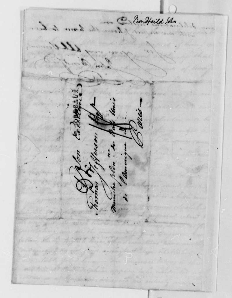 John Bondfield to Thomas Jefferson, October 6, 1787