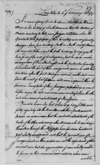 John C. Symmes to Charles Thomson, February 4, 1787