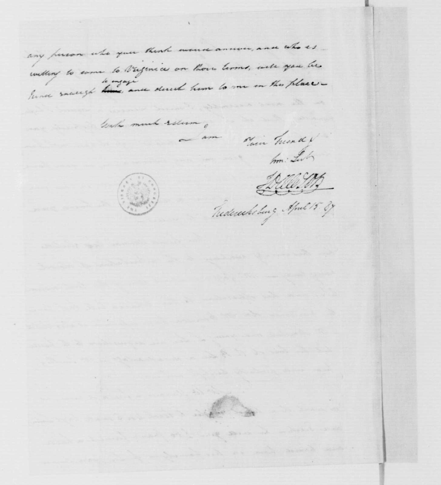 John Dawson to James Madison, April 15, 1787.