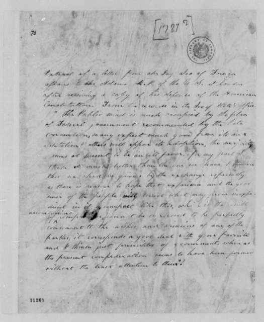John Jay to John Adams, 1787