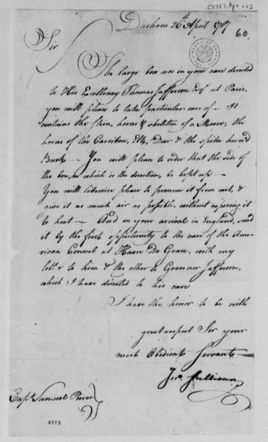 John Sullivan to Samuel Pearce, April 26, 1787