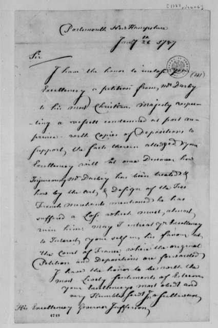 John Sullivan to Thomas Jefferson, January 26, 1787, Seizure of the Neptune (ship) in Port au Prince