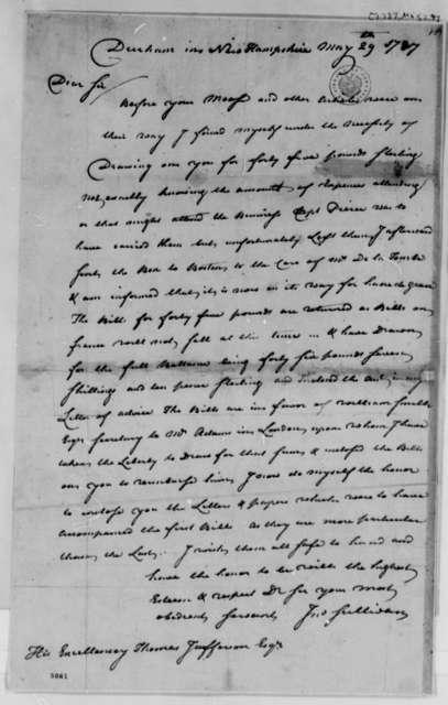 John Sullivan to Thomas Jefferson, May 29, 1787