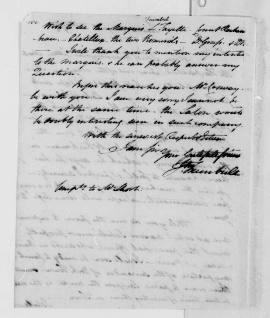John Trumbull to Thomas Jefferson, August 28, 1787