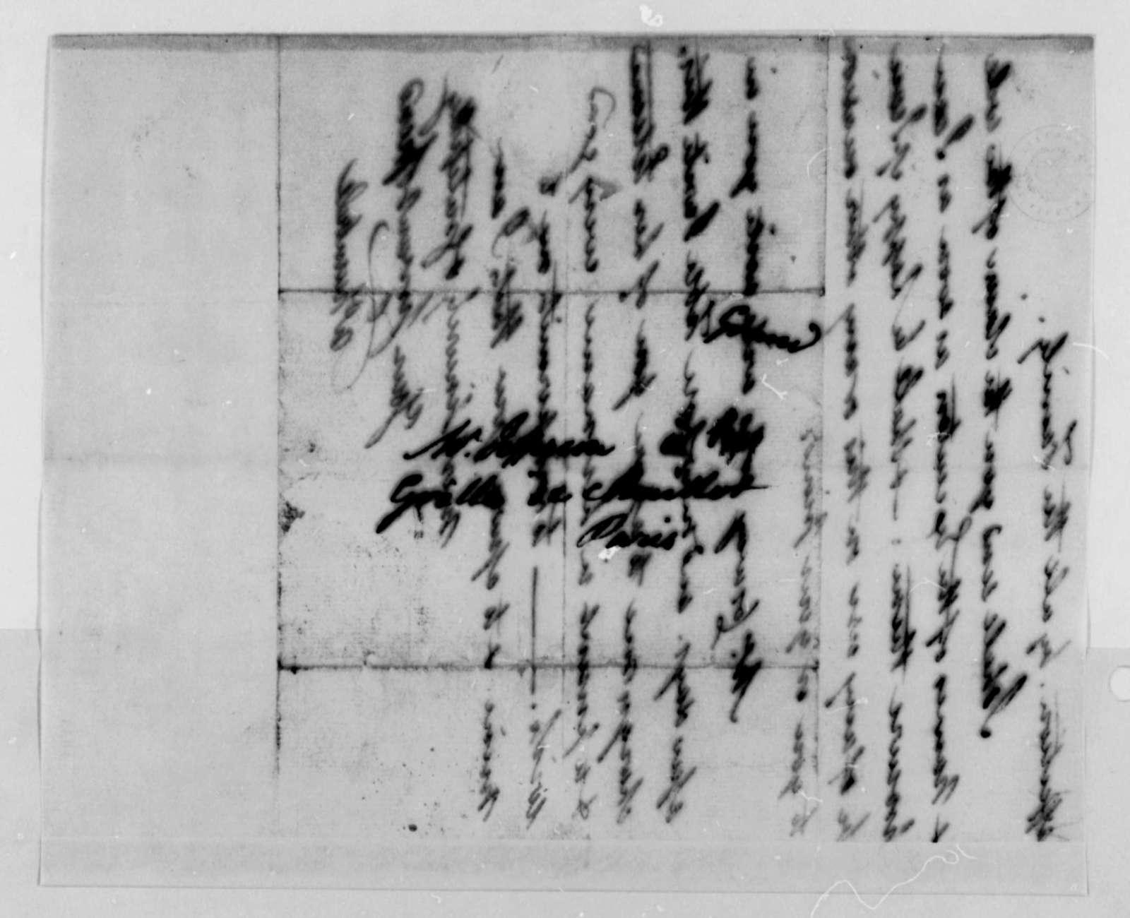 John Trumbull to Thomas Jefferson, February 15, 1787