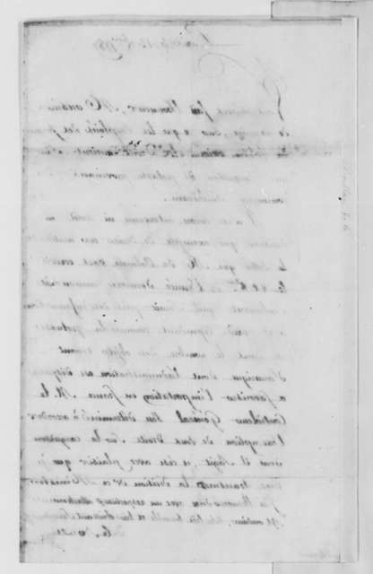 La Boullaye to Thomas Jefferson, November 12, 1787, in French