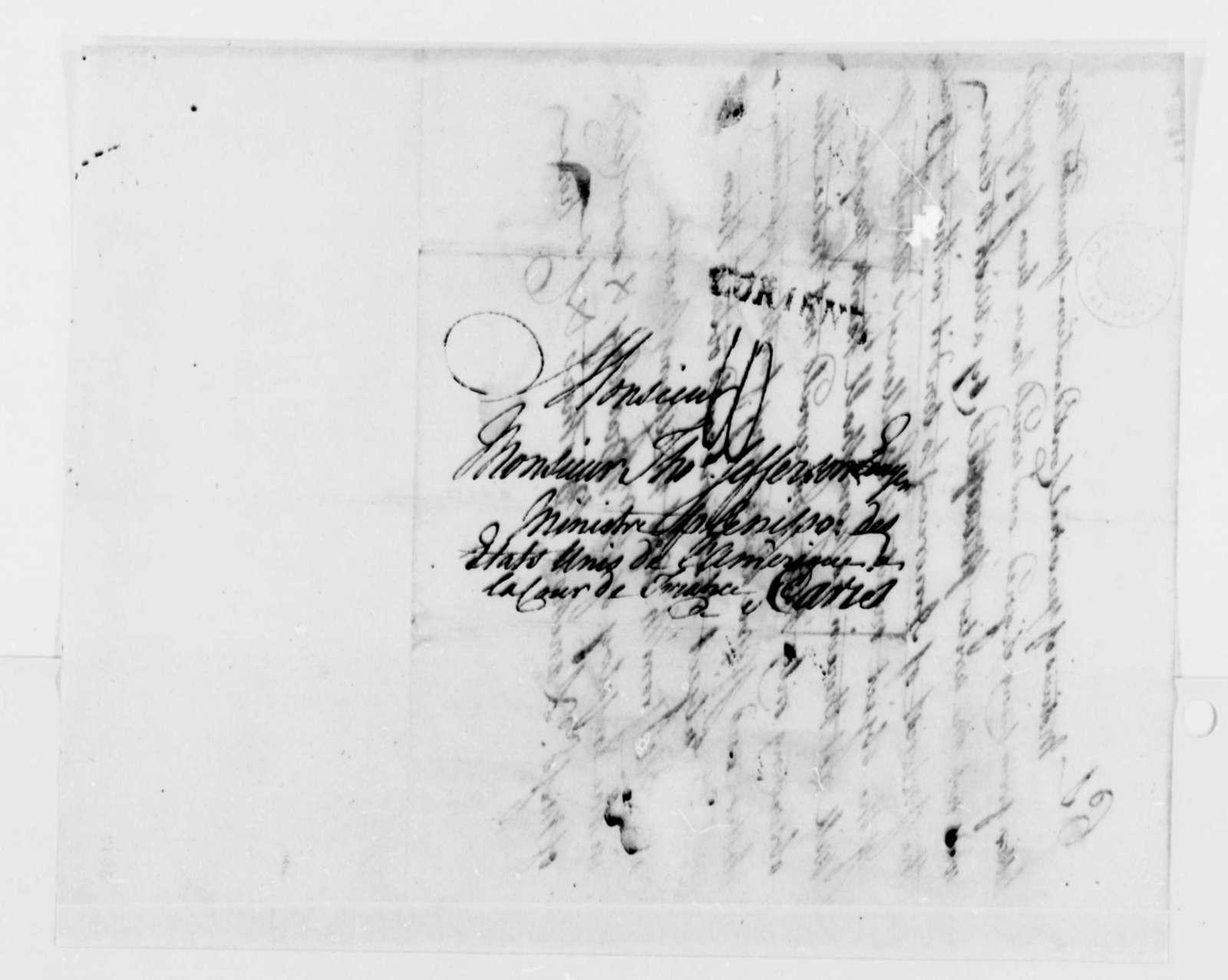 Lanchon Freres & Company to Thomas Jefferson, November 23, 1787