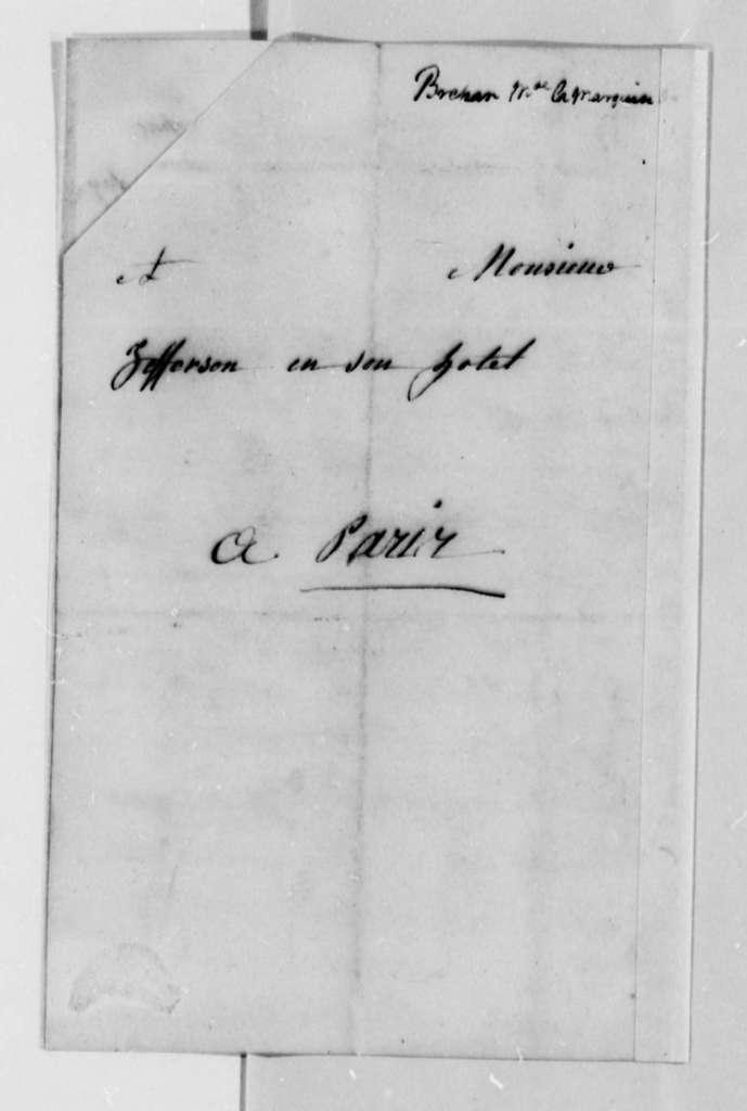 Madame de Brehan to Thomas Jefferson, October 1787