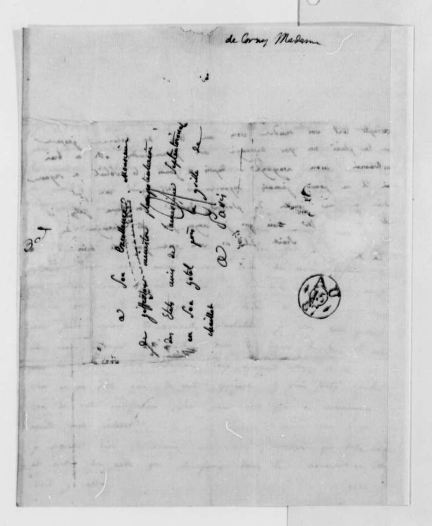 Madame de Corny to Thomas Jefferson, August 9, 1787