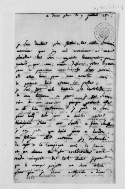 Madame de Corny to Thomas Jefferson, July 9, 1787