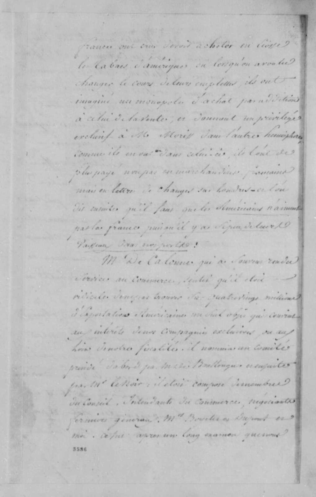 Marie Joseph Paul Yves Roch Gilbert du Motier, Marquis de Lafayette to Charles G. Lambert, September 10, 1787, in French