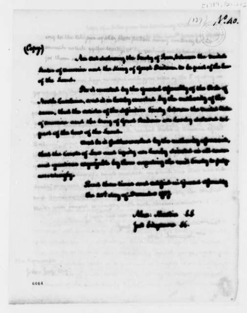 North Carolina General Assembly, December 22, 1787, Act