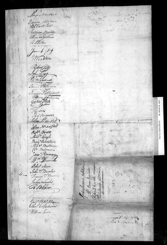 November 22, 1787, Spotsylvania, Opposed to sale of glebe in Berkeley Parish.