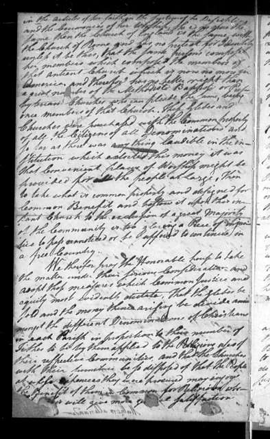 October 31, 1787, Miscellaneous, Ministers and lay representatives of the Presbyterian Church, for sale of glebes. Suggests Legislature would be performing a better service to morals to enforce the penal code, than to support the Protestant Episcopal Church.