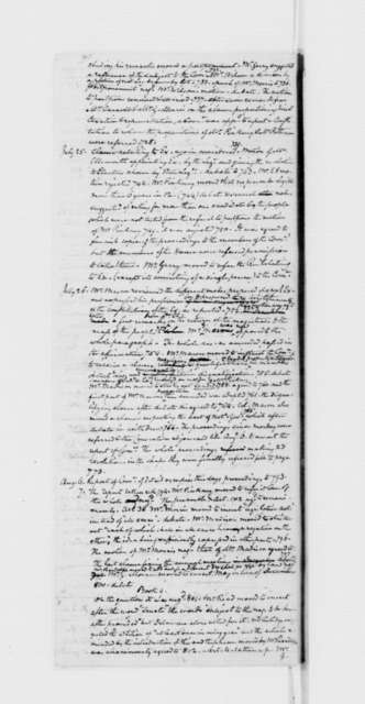 Philadelphia Convention, August 27, 1787. James Madison Debate Notes,Beginning on May 14.