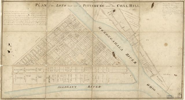 Plan of the lots laid out at Pittsburg and the Coal Hill.