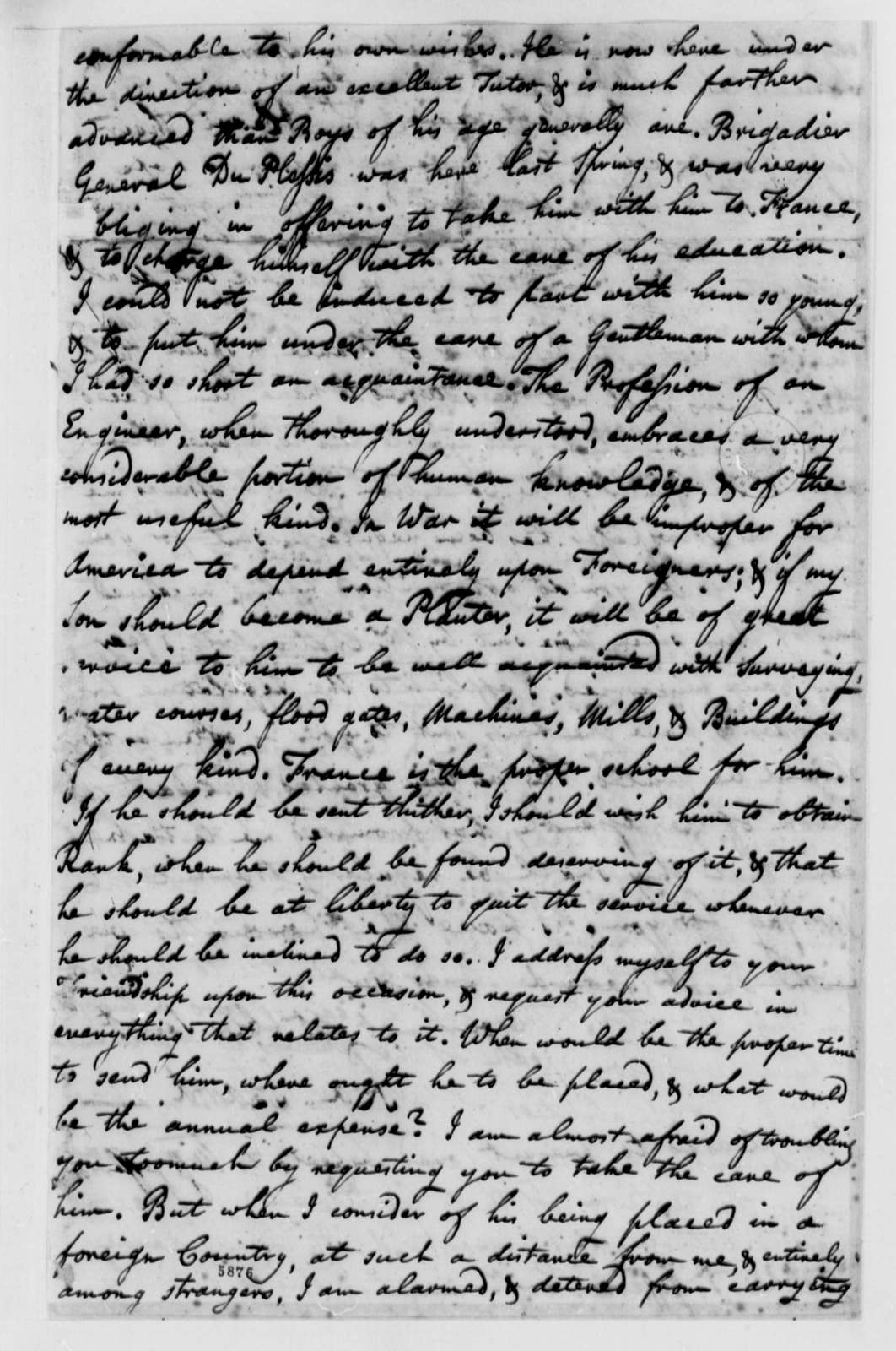 Ralph Izard to Thomas Jefferson, November 10, 1787