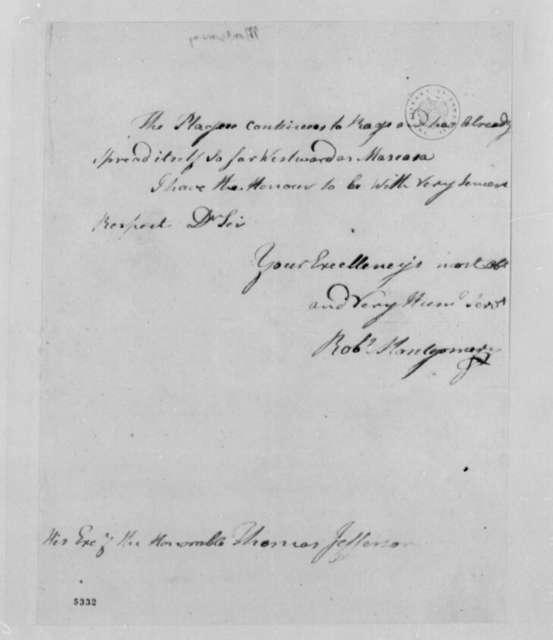 Robert Montgomery to Thomas Jefferson, July 24, 1787