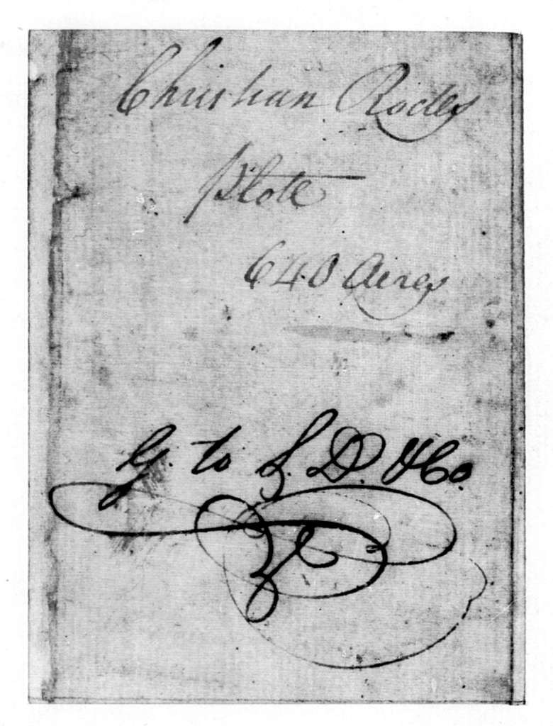 Shockley Donelson to Christian Rodes, June 9, 1787