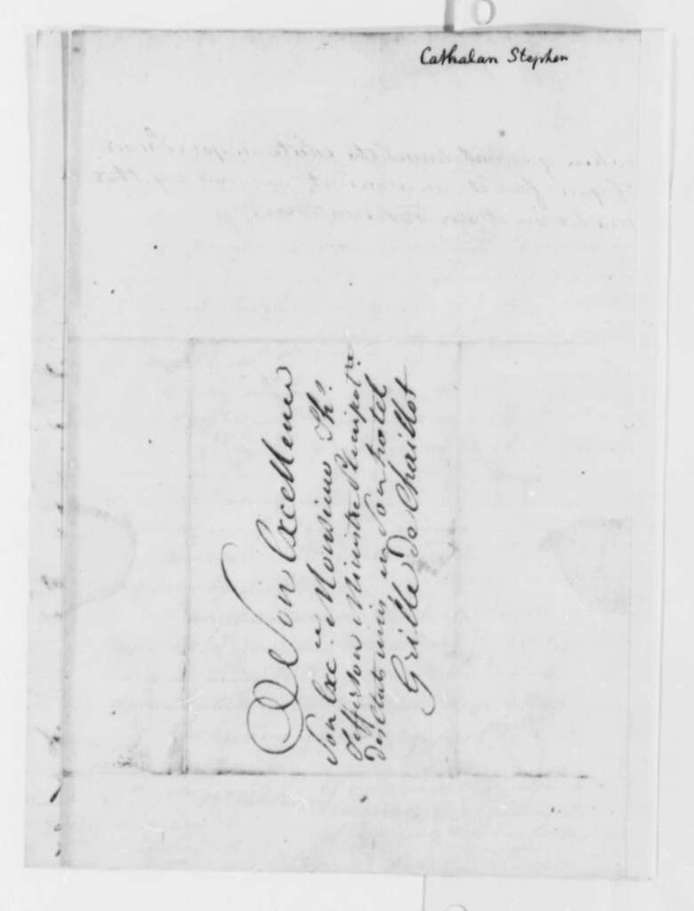 Stephen Cathalan Jr. to Thomas Jefferson, September 17, 1787