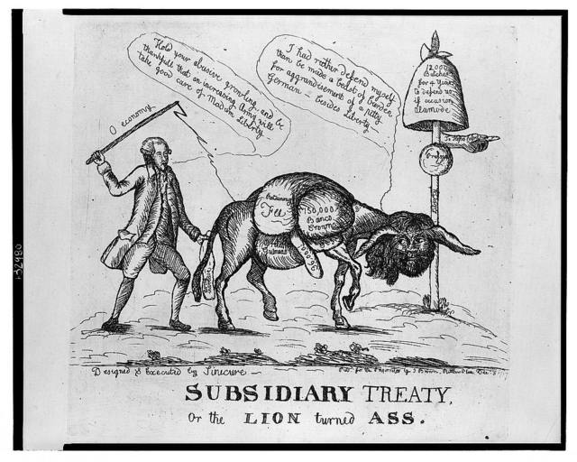 Subsidiary treaty, or the lion turned ass / designed & executed by Sinecure.