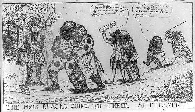 The poor blacks going to their settlement