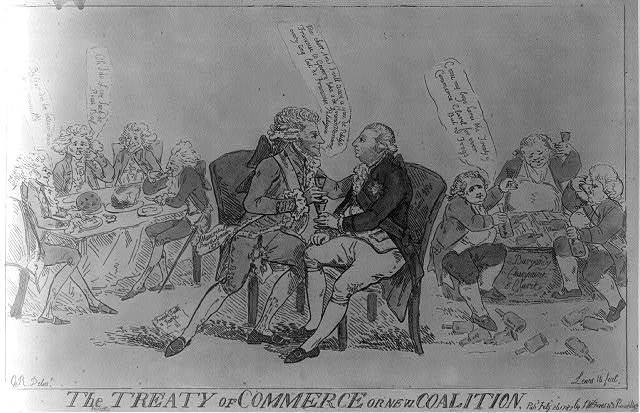 The Treaty of Commerce or New coalition / G.R., delint. ; Lewis 16, fecit.