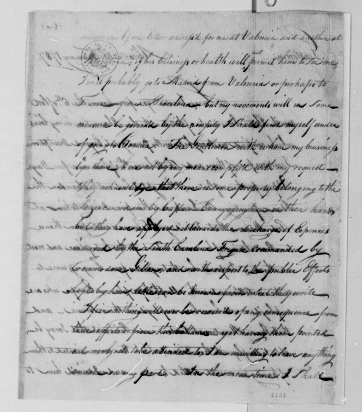 Thomas Barclay to American Peace Commissioners, February 10, 1787, with Copy