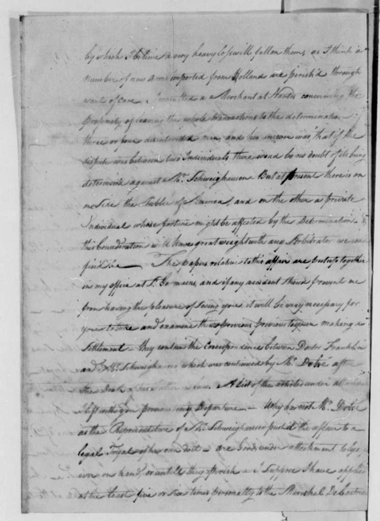 Thomas Barclay to Thomas Jefferson, February 10, 1787