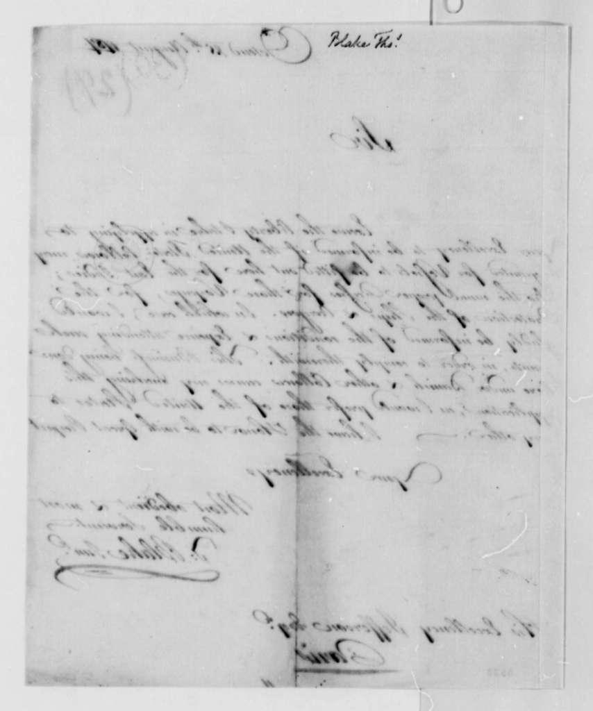 Thomas Blake Jr. to Thomas Jefferson, August 25, 1787