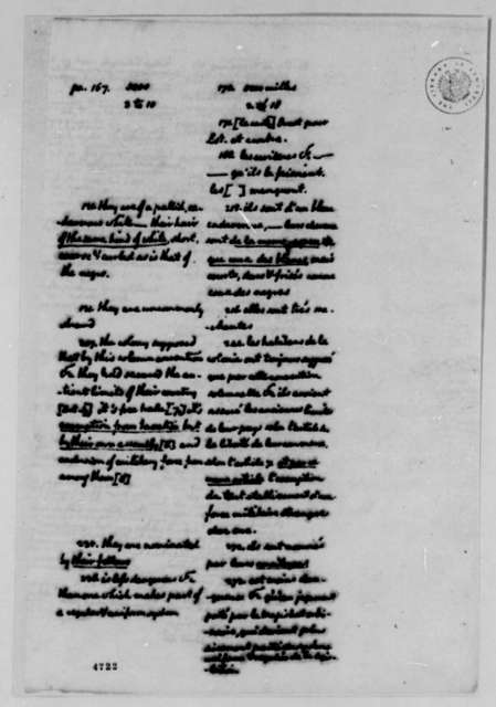 "Thomas Jefferson, January 19, 1787, Corrections of Andre Morellet's Translation of ""Notes on Virginia"""
