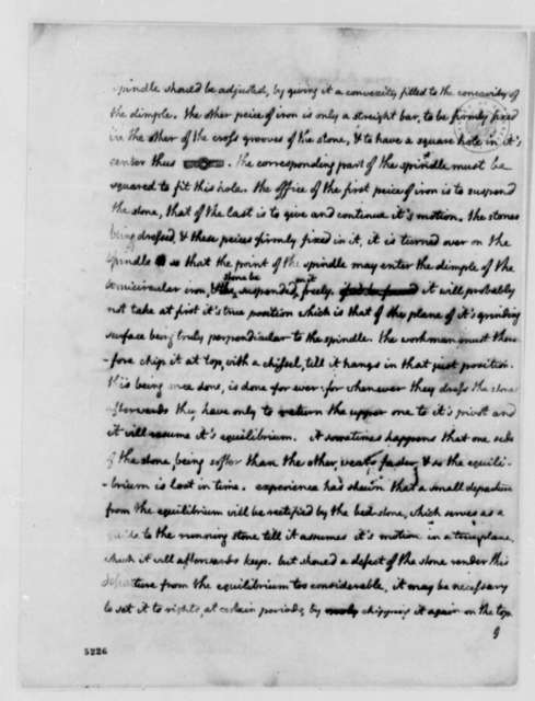 Thomas Jefferson to Abbe d'Arnal, July 9, 1787, Grist Mills; with Drawings