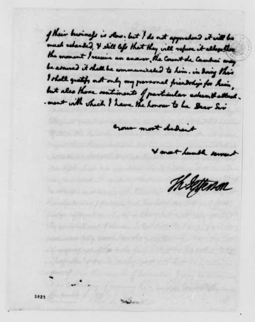 Thomas Jefferson to Andre Morellet, October 24, 1787