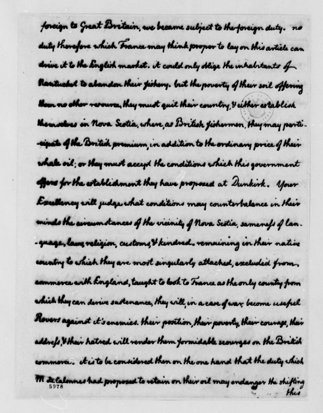 Thomas Jefferson to Armand-Marc, Comte de Montmorin-Saint-Herem, December 6, 1787, Memorandum on Alexander Gross Enclosed, same date; with Two Copies