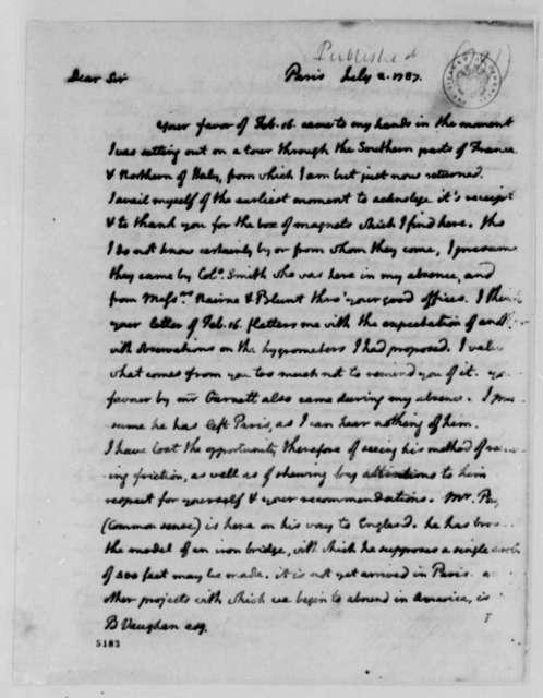 Thomas Jefferson to Benjamin Vaughan, July 2, 1787
