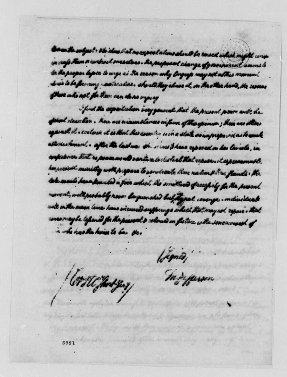 Thomas Jefferson to Charles William Frederic Dumas, December 9, 1787, with Copy