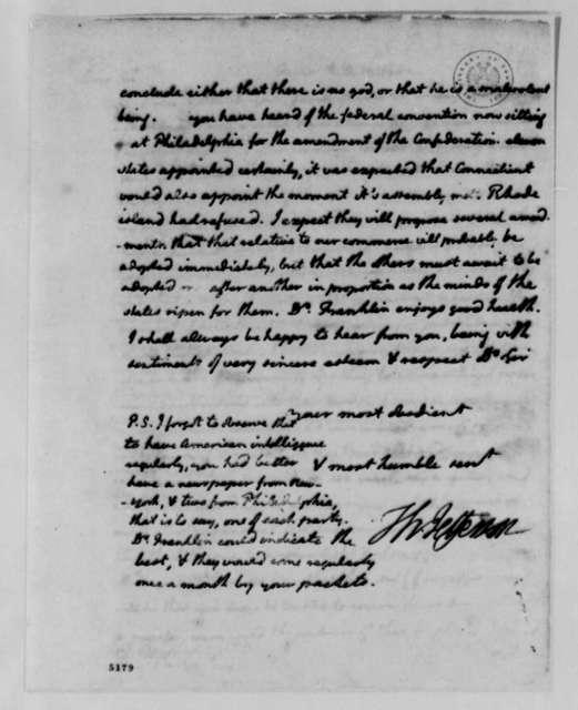 Thomas Jefferson to David Hartley, July 2, 1787