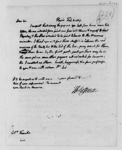 Thomas Jefferson to David S. Franks, February 8, 1787
