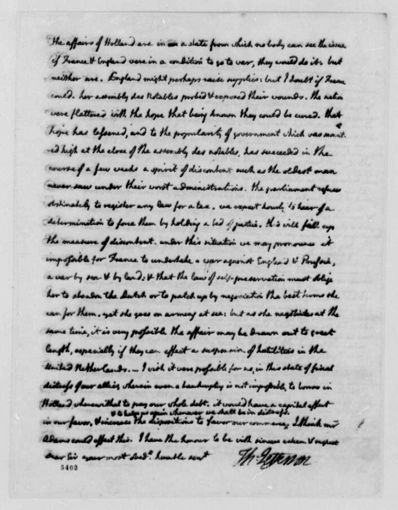 Thomas Jefferson to Edward Carrington, August 4, 1787