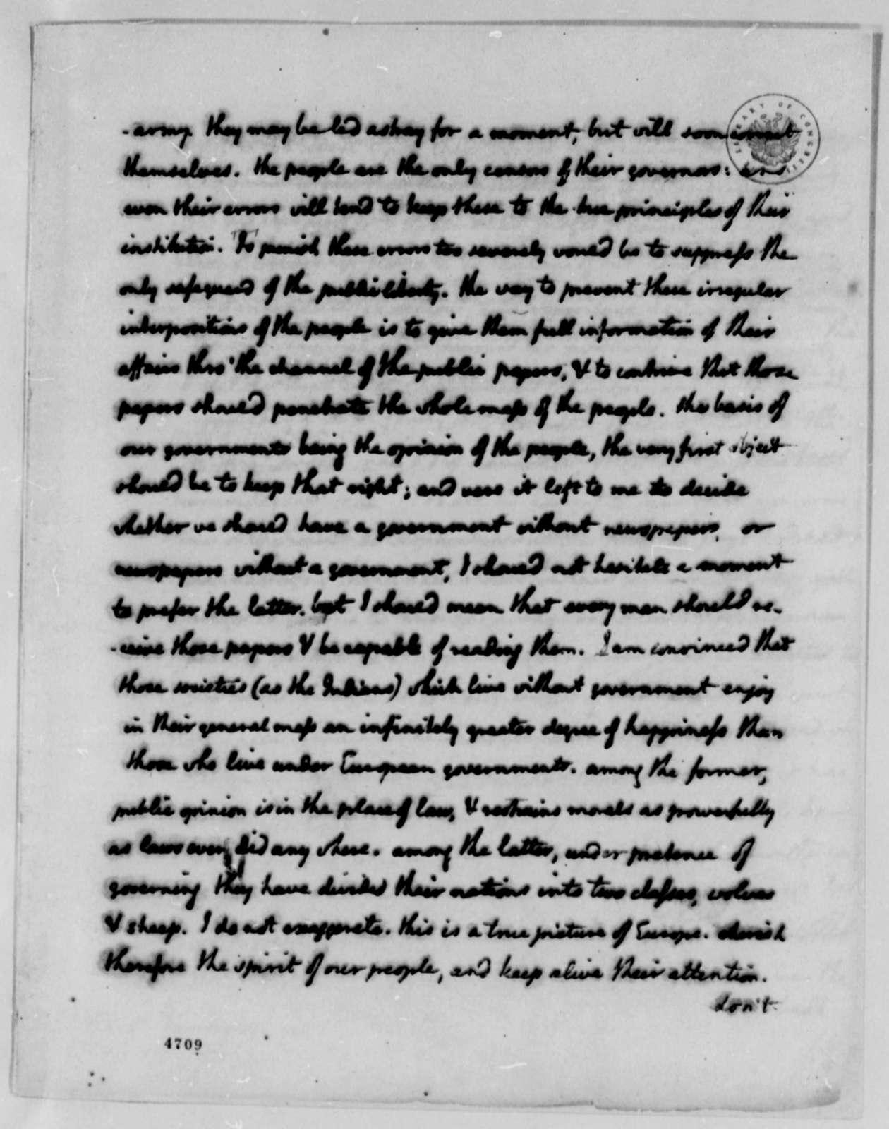 Thomas Jefferson to Edward Carrington, January 16, 1787