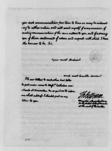 Thomas Jefferson to Francisco Chiappe, September 15, 1787